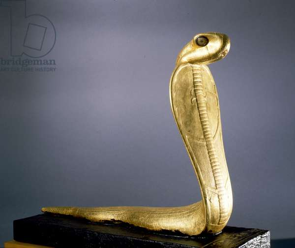 Gold statue of Netjer-Ankh (living god) made of guilded wood found in one of the black shrines of the Tutankhamun burial