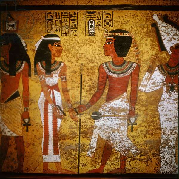 Wall painting from the north wall of the burial chamber of Tutankhamun