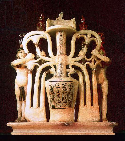 Perfume jar from the tomb of Tutankhamun