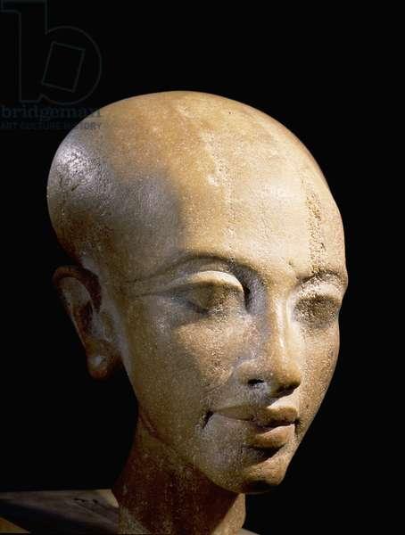 A head of a daughter of Akhenaton