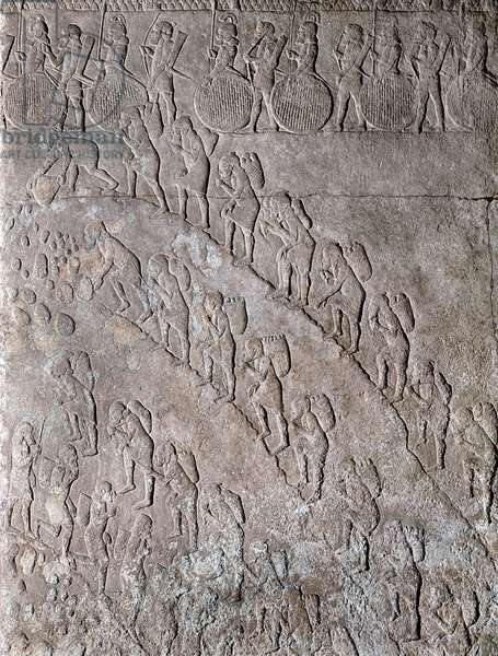 Stone relief from the palace of Sennacherib