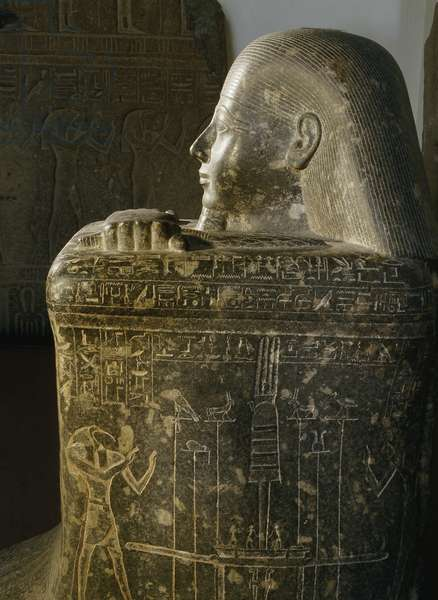 Block statue of Hor, a long serving secretary to rulers of the late 22nd and early 23rd dynasty