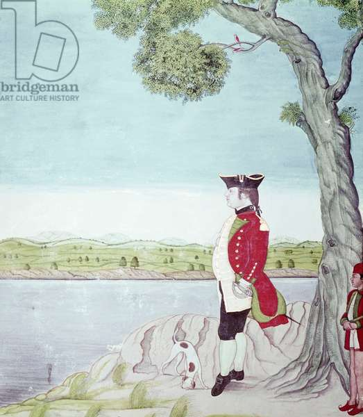 A military officer of the East India Company, 1765-70 (opaque w/c on paper)
