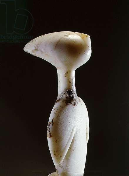 Cycladic figurine - 'star-gazer', it belongs to the Louros type of the Grotta-Pelos culture