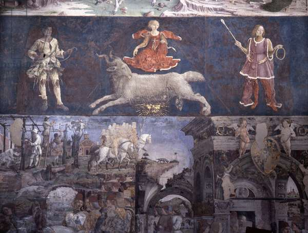 "Allegorical representation of the signs of the zodiac from the ""Palace of Joy"", by Francesco Cossa"