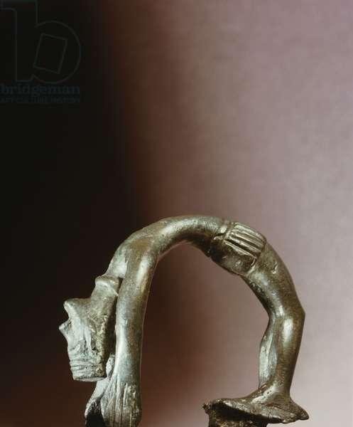 Figure of a backward-bending goddess