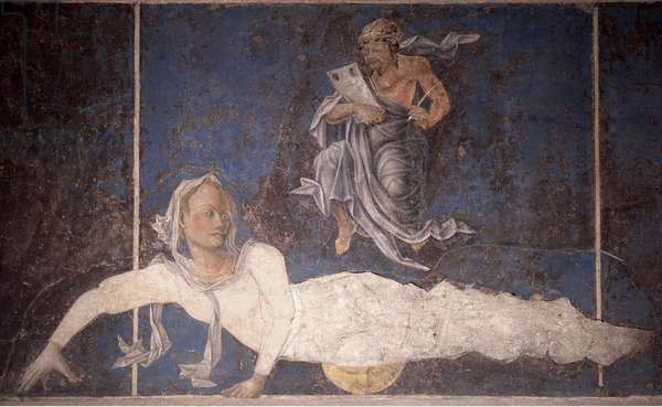 "Allegorical representation of the signs of the zodiac from the ""Palace of Joy"", by Cosme Turra"