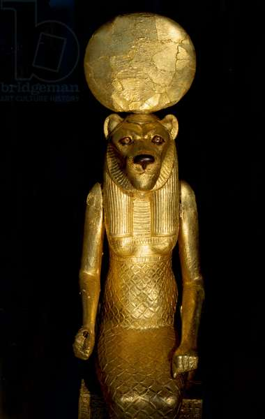 Seated figure of the goddess Sekhmet from the tomb of Tutankhamun