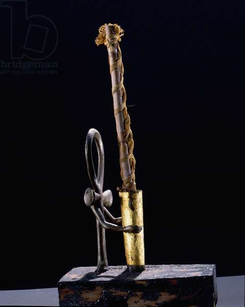 Bronze and wood candlesticks from the Tutankhamun burial