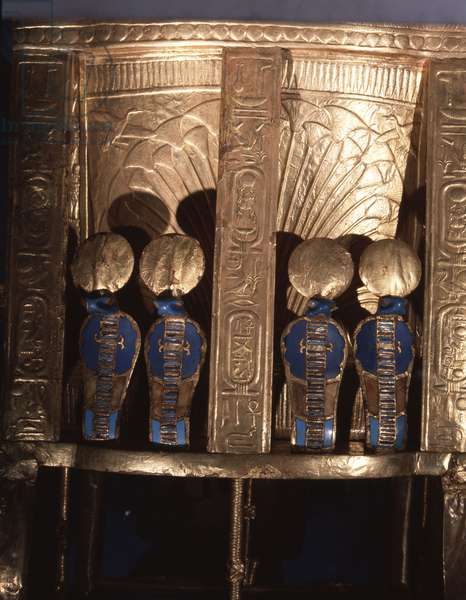 Back of the Golden Throne of Tutankhamun