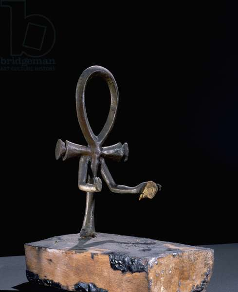 Candlesticks in the form of an ankh from the Tutankhamun burial