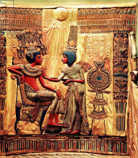 Detail of the throne of Tutankhamun