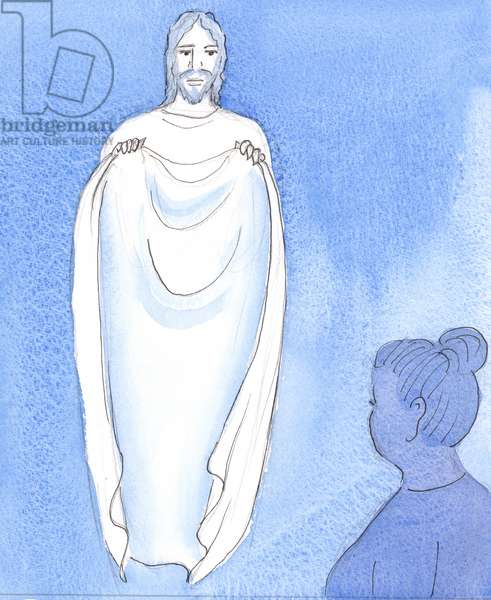 Christ comforts and reassures us, like a mother reassuring her children when they are worried or distressed, 2004 (w/c on paper)