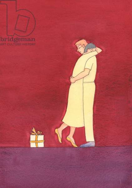 Human love should reflect God's love and be selfless and faithful, 2005 (w/c on paper)