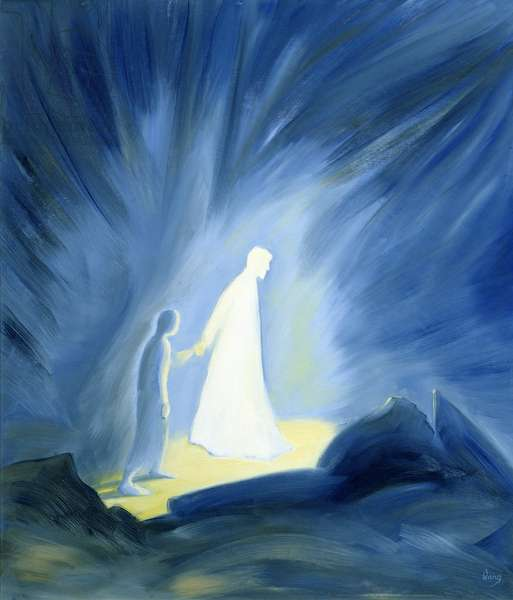 Even in the darkness of our sufferings Jesus comforts and guides us, 1994 (oil on panel)