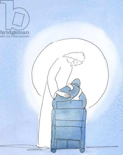 At the Easter Vigil, Christ leaned over my chair, showing how delighted, 2003 (w/c on paper)