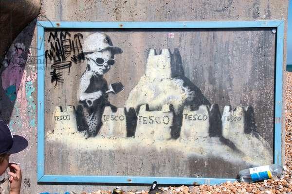 Mural at Marina, St Leonards-on-Sea, East Sussex, UK