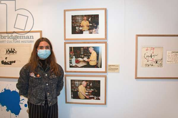 Emma Stirling-Middleton the curator at The Cartoon Museum, London, UK, 2020 (photo)