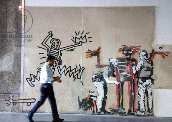 Mural painting, Barbican Centre, London, UK