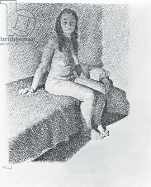 Seated Nude, c.1968-74 (pencil on paper)