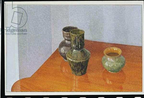 Still Life: George Ohr Pots, 1982 (Oil on Canvas)