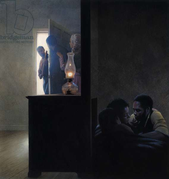 Secret room for runaway slaves, 2005 (acrylic on board)
