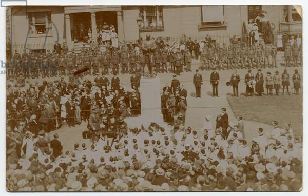 Unveiling the war 1914-1918 memorial, Euston Place, Leamington Spa. 1919