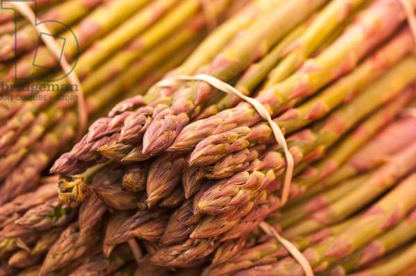 Asparagus spears on market stall (photo)