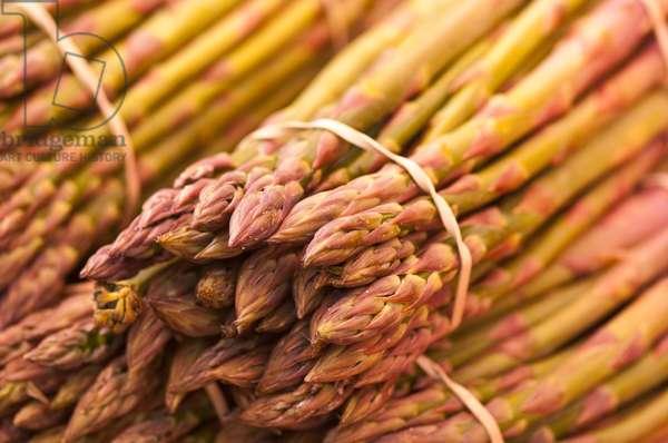 Asparagus spears on market stall (photo)