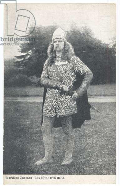 Warwick Pageant: Guy of the Iron Hand, 1906 (b/w photo)