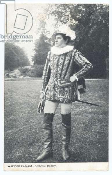 Warwick Pageant: Ambrose Dudley, 1906 (b/w photo)
