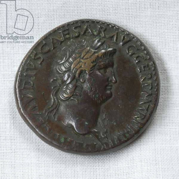 Sestertius of the Roman Emperor Nero, c.54-68 AD (bronze)