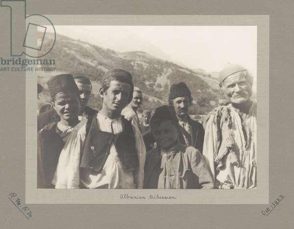Tribesmen, Albania, October 1923 (b/w photo)