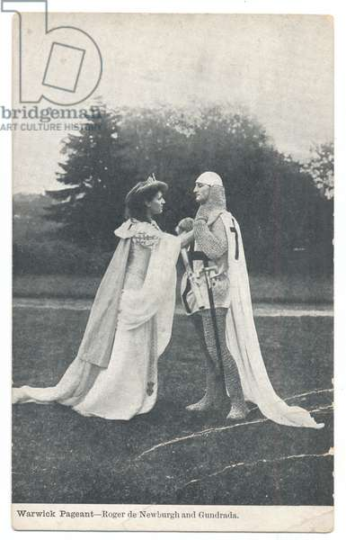Warwick Pageant: Roger de Newburgh and Gundrada, 1906 (b/w photo)