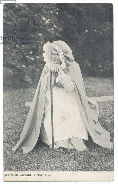 Warwick Pageant: Mother Finch, 1906 (b/w photo)