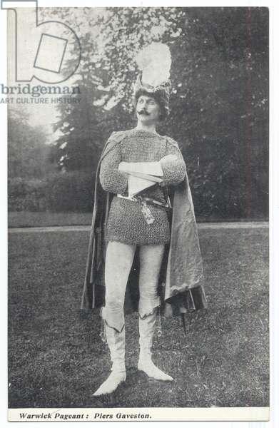 Warwick Pageant: Piers Gaveston, 1906 (b/w photo)