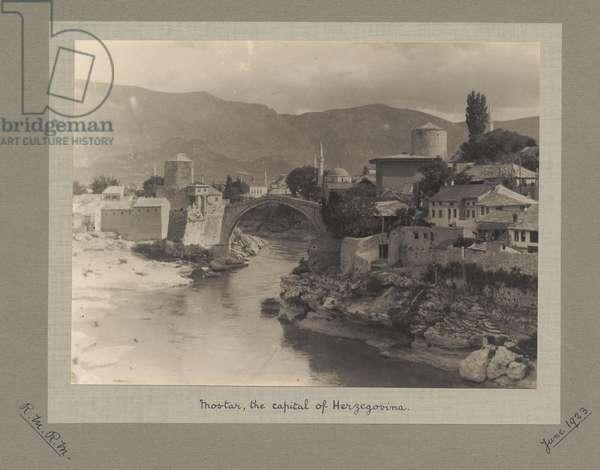 Mostar, capital of Herzegovina, June 1923 (b/w photo)