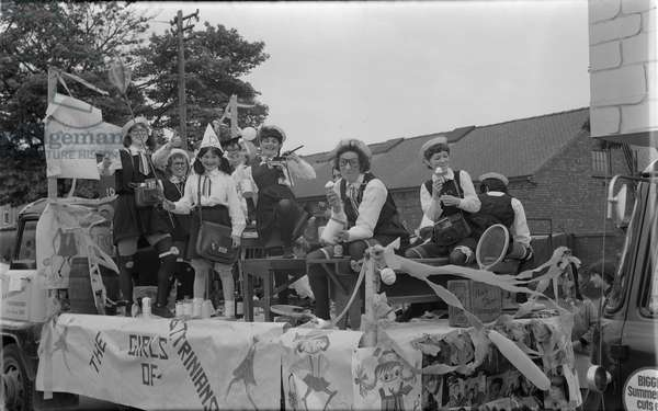 Nuneaton Carnival Procession. The Girls of St Trinian's, pictured in Caldwell Road, Nuneaton. Saturday 5 June 1965