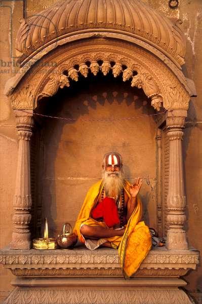 Sadhu or holy man, North India (photo)