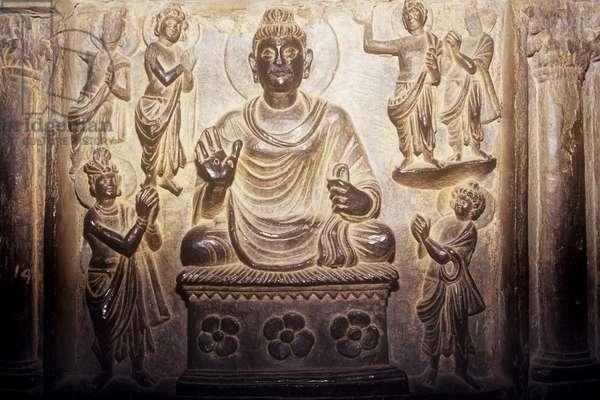 Bronze Buddha from the Gandharan Civilisation (bronze)