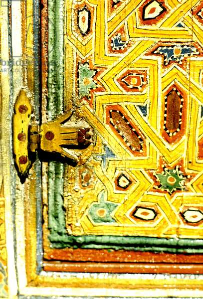 Hinge on a shutter with the Hand of Fatima (painted wood)