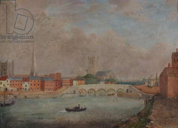 Worcester Bridge (oil on canvas)