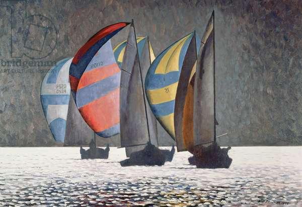 The Race, 1989 (oil on canvas)