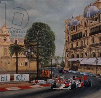 Montecarlo Grand Prix, 1995 (oil on canvas)