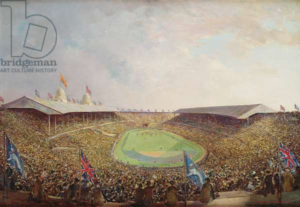 Arsenal v. Sheffield, F.A. Cup Final, Wembley, 1936 (oil on canvas)