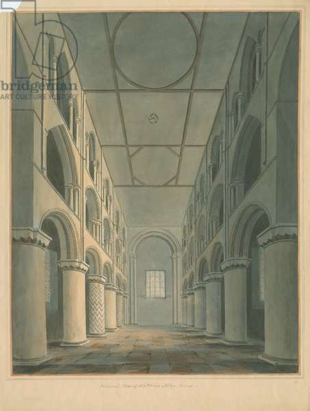 Essex - Waltham Abbey - Interior, 1802 (w/c on paper)