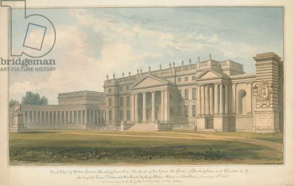 Buckinghamshire - Stowe House, 1815 (w/c on paper)