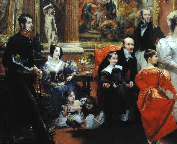 The Grosvenor Family (oil on canvas) (detail of 210970)