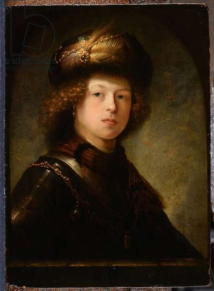 Portrait of a young man, formerly identified as Rembrandt (oil on panel)