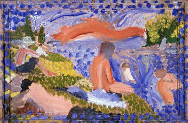 Seurat's Bathers, 1998-2000 (oil & charcoal on board)
